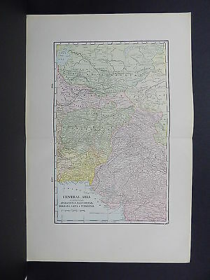 Map of Central Asia George F. Cram 1901 Double Page #20