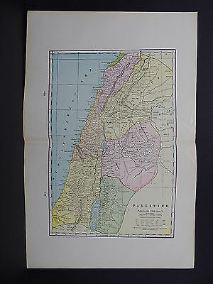 Map of Palestine George F. Cram 1901 Double Page #21