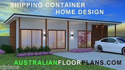 Shipping Container Home-Granny Flat-Cheap House Solution- Full Constuction Plans