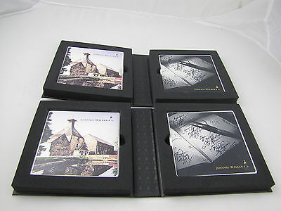 Johnnie Walker Whisky Ceramic Coasters Sets Two sets 4 Coasters NEW with Box