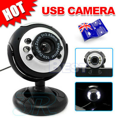 OZ Camera+Mic+6 LED Lights 16 megapixel MP USB Webcam for Skype Laptop PC Mac
