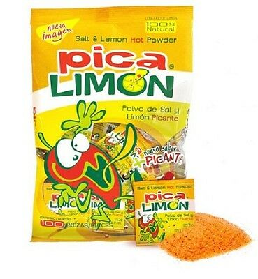 ANAHUAC PICA LIMON 100ct, Salt, Lemon & Hot Chili Powder, Mexican Candy