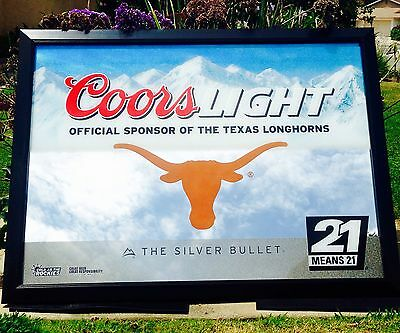 Coors light texas longhorns college ncaa football huge big bar pub coors light texas longhorns college ncaa football huge big bar pub beer mirror aloadofball Image collections