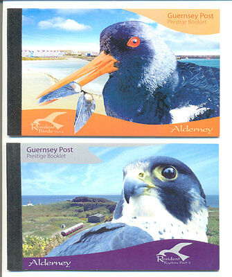 Alderney - Set of 4 Birds-prestige booklets mnh