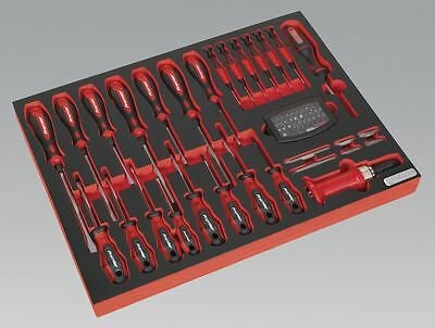 Sealey Tool Tray with Screwdriver Set 72pc