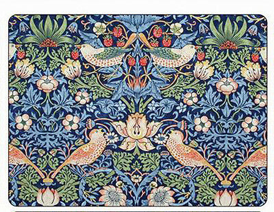 Morris & Co for Pimpernel Strawberry Thief Blue Placemats - Set of 6