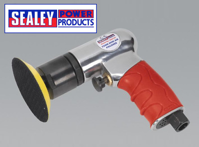"Sealey Ø75mm 3"" Mini Lightweight Hook & Loop Air Polisher Buffer Buffing"