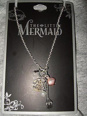 Nwt Disney Ariel The Little Mermaid Part Of Your World Fork Shell Charm Necklace