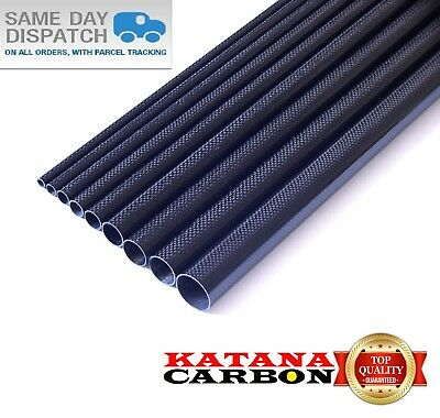 Matt 1 x OD 22mm x ID 20mm x 1000mm (1 m) 3k Carbon Fiber Tube (Roll Wrapped)