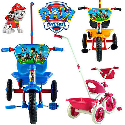 Paw Patrol Dog Puppy Bike Trike Bicycle Tricycle 3 Wheel Car Kid Ride On Toy