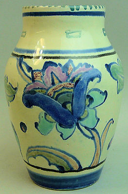 A Lovely Honiton Devon Art Deco Hand Painted Pottery Vase C.1930