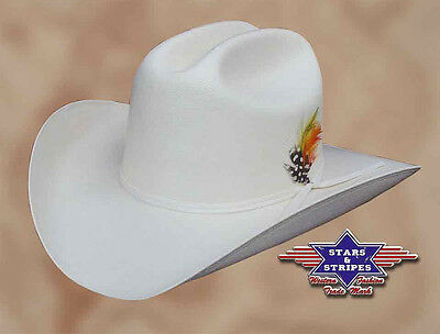 Stroh-Hut Westernhut Cowboyhut »ARIZONA« Beige Country Mexikanisch Stars&Stripes