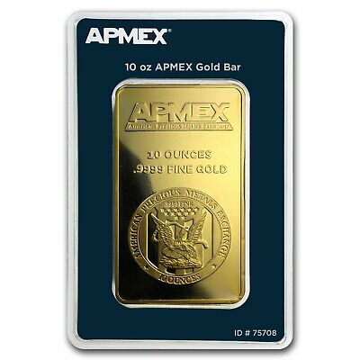 10 oz Gold Bar - APMEX (In TEP Package) - SKU #75708