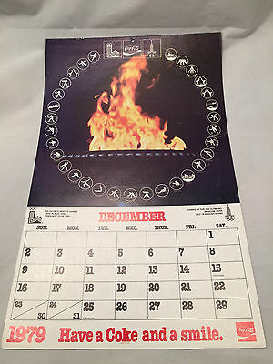 1980 Coca-Cola Coke Paper Calendar New Old Stock XIII Lake Placid Olympics