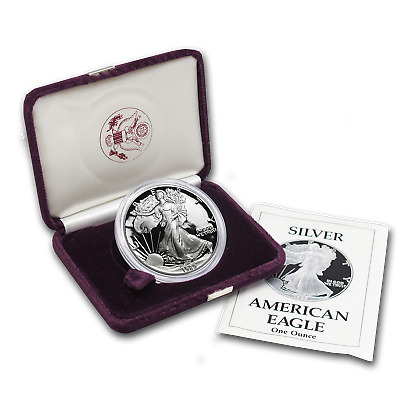 1989-S 1 oz Proof Silver American Eagle (w/Box & COA) - SKU #1082