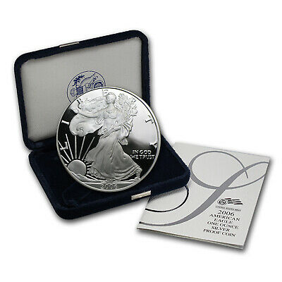 2006-W 1 oz Proof Silver American Eagle (w/Box & COA) - SKU #13142