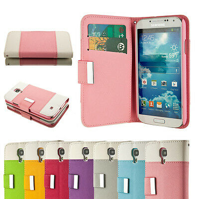 Lot of 6 Magnetic Closure Pocket Wallet Case Cover For Samsung Galaxy S4 i9500