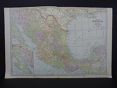 Mexico George F. Cram 1901 Double Page #24