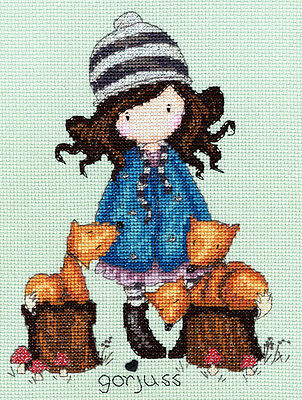 Bothy Threads GORJUSS THE FOXES Cross Stitch KIT XG5 NEW SANTORO