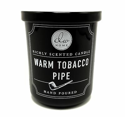 DW Home Warm Tobacco Pipe Richly Scented Candle Hand Poured Small 4 oz Size