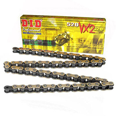 DID VX2 520 Gold Pro Street X-Ring Motorcycle Chain - 120