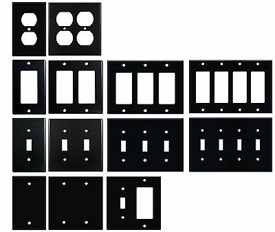 Matte Black Electrical Metal Wall Plate Covers Switch Plates & Outlet Covers