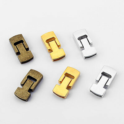 2 Sets Silver/Bronze/Gold Strong Buckle Magnetic Clasp 15x3.5mm For Flat Leather