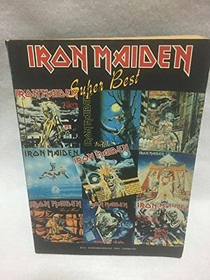 Used! IRON MAIDEN -Super Best- JAPAN Band Score Guitar Bass Drum TAB Songbook
