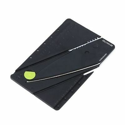 Home Office Camping Using Portable Credit Card Safety Foldable Black Knife 1 pcs