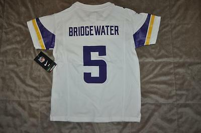 brand new 47196 40f7a MINNESOTA VIKINGS TEDDY Bridgewater Nike Youth Toddler Jersey White NWT