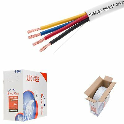 250FT Speaker Wire 14AWG CONDUCTOR CL2 4 Conductor In Wall Audio Cable 14/4 BULK