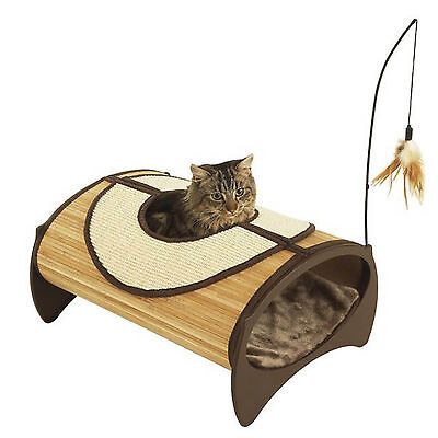 Pod Cat Pet Bed Soft Lining House Bamboo Snug Natural Eco Friendly Jolly Moggy