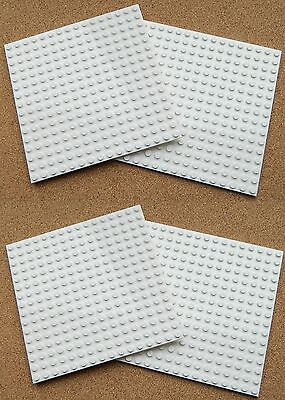 """LEGO Large Plate 16x16 5""""x5"""" (pack of 4) WHITE flat Base 16 x 16 baseplate snow"""