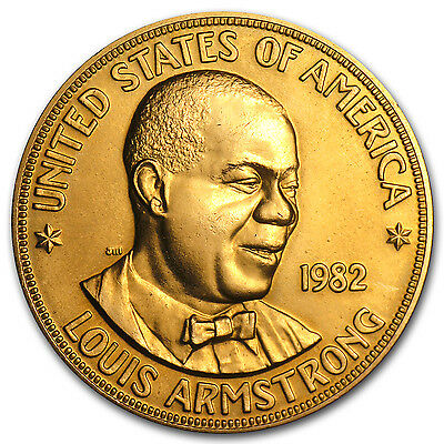U.S. Mint Gold 1 oz Louis Armstrong Commemorative Arts Medals