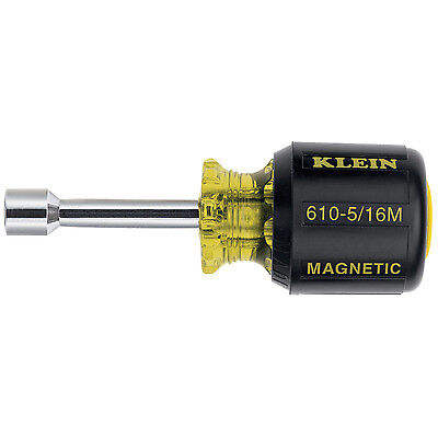 Klein Tools 610-5-16M 5/16-In 1-1/2-Inch Shank Cushion-Grip Magnetic Nut Driver