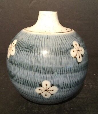 Antique Hand Painted Japanese Round Vase 4 1/2 Inches