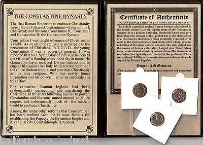 1-'THE CONSTANTINE DYNASTY' Ancient 1st Christian Emperors -Large Album with COA