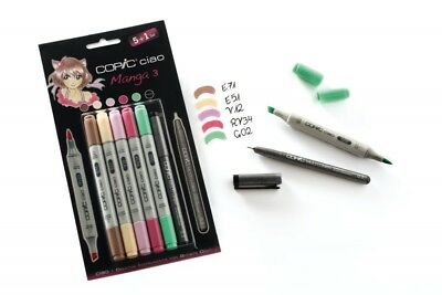 COPIC Marker CIAO 5+1 Set -  Manga 3 - NEU & OVP