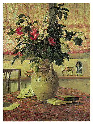 1235.Flower Vase Floral Art Decoration POSTER.Graphics to decorate home office.