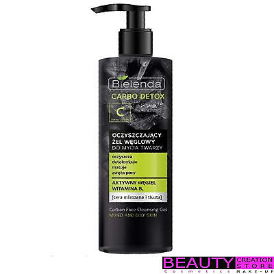BIELENDA Carbo Detox Carbon Face Cleansing Gel Mixed And Oily Skin 195g BN106