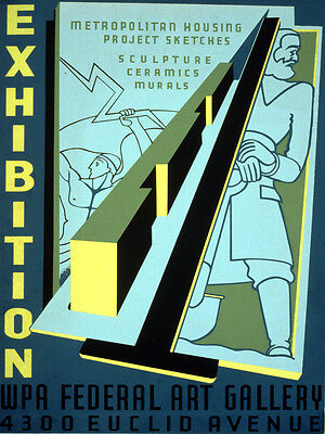 2211. Exhibition WPA Federal Art Gallery Decoration POSTER. Home Graphic Design.