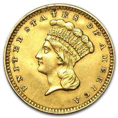 $1 Indian Head Gold Coin - Type 3 - Random Year - Cleaned - SKU #55501