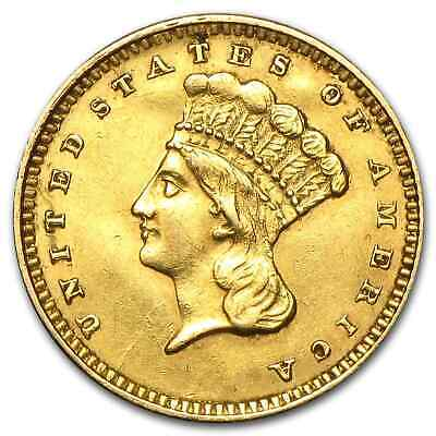 $1 Indian Head Gold Type 3 (Cleaned) - SKU #55501