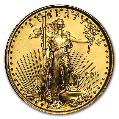 1998 1/10 oz Gold American Eagle BU - SKU #7447