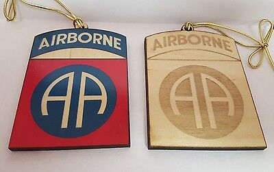 Military Christmas Ornament, 82nd  Airborne (Engraved & Printed)