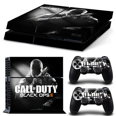 Black Ops 2 Skin Sticker Cover For PS4 Playstation 4 Console Decal Set Vinyl