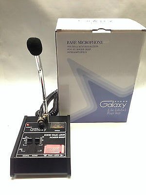 GALAXY ECHO MASTER POWER BASE MICROPHONE 4 pin Cobra CB HAM Classic ROGER B MIC