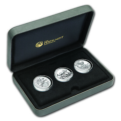 2015 Australia 3-Coin 1 oz Silver High Relief Proof Set - SKU #93867