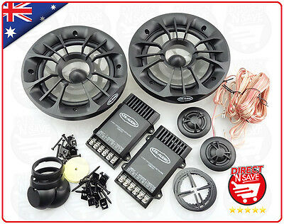 "6"" Car Audio 2Way Splits Component Speaker System 300 Watts Tweeters &Crossovers"