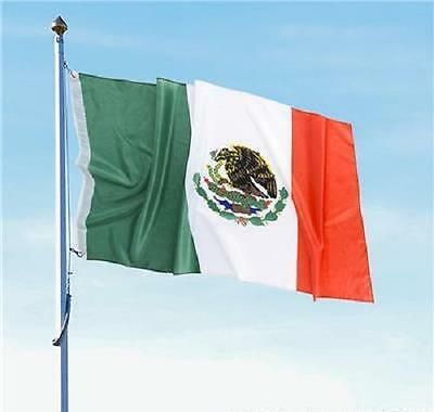 2 MEXICAN FLAGS 3 x 5 Indoor Outdoor Banner Pennant Soccer #SR19 Free Shipping